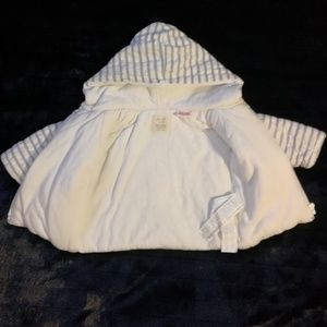 Zara mini zip up hooded sweater. 1-3 months